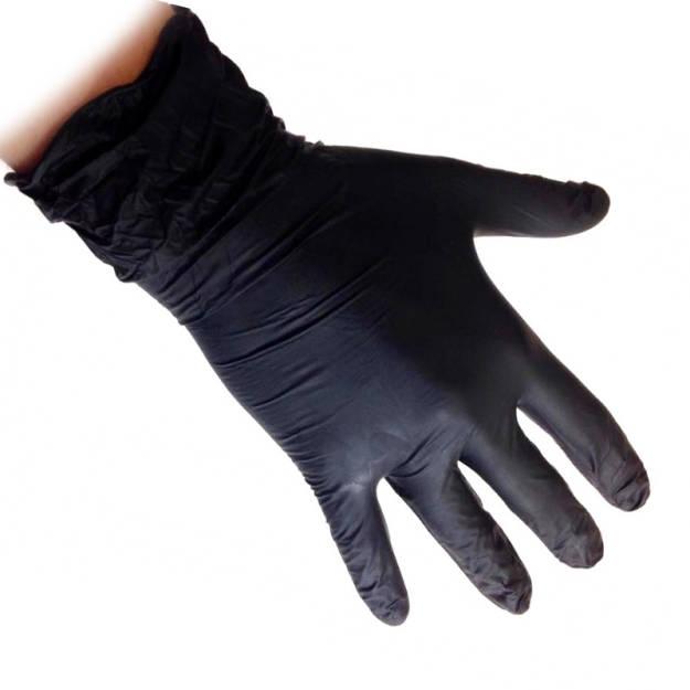 6d5a50e2f7cbba Rękawiczki nitrylowe, rękawice bezpudrowe L czarne 100szt.