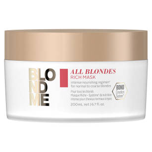 Schwarzkopf BlondMe Rich All Blondes Bogata maska do włosów blond 200ml